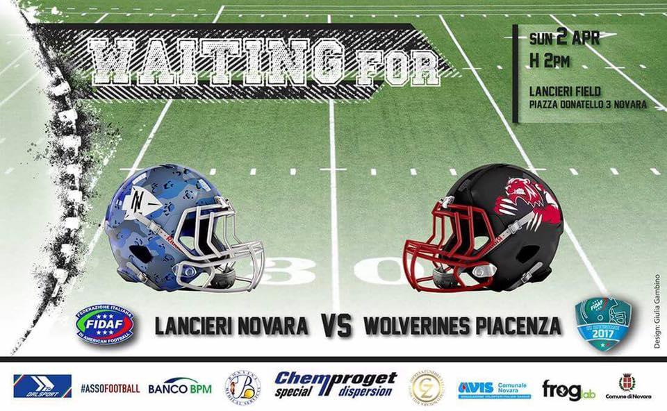Lancieri Novara vs Wolverines Piacenza