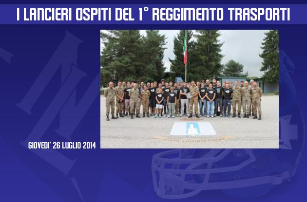 I Lancieri di Novara ospiti del 1° reggimento trasporti