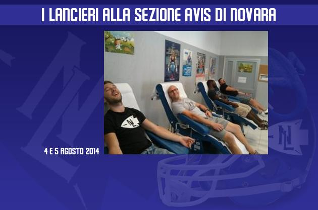 I Lancieri alla sezione Avis di Novara
