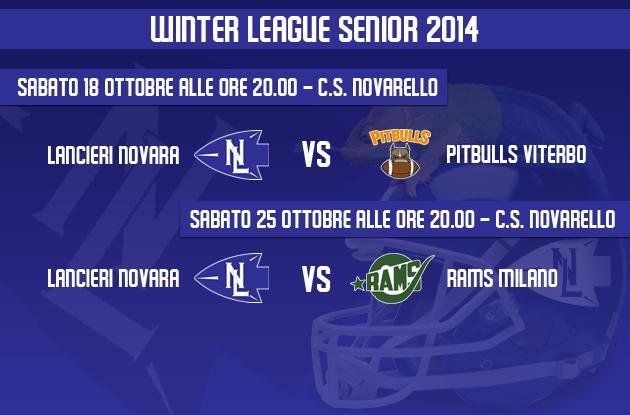 Appuntamento alla metà di ottobre con la Winter League Senior
